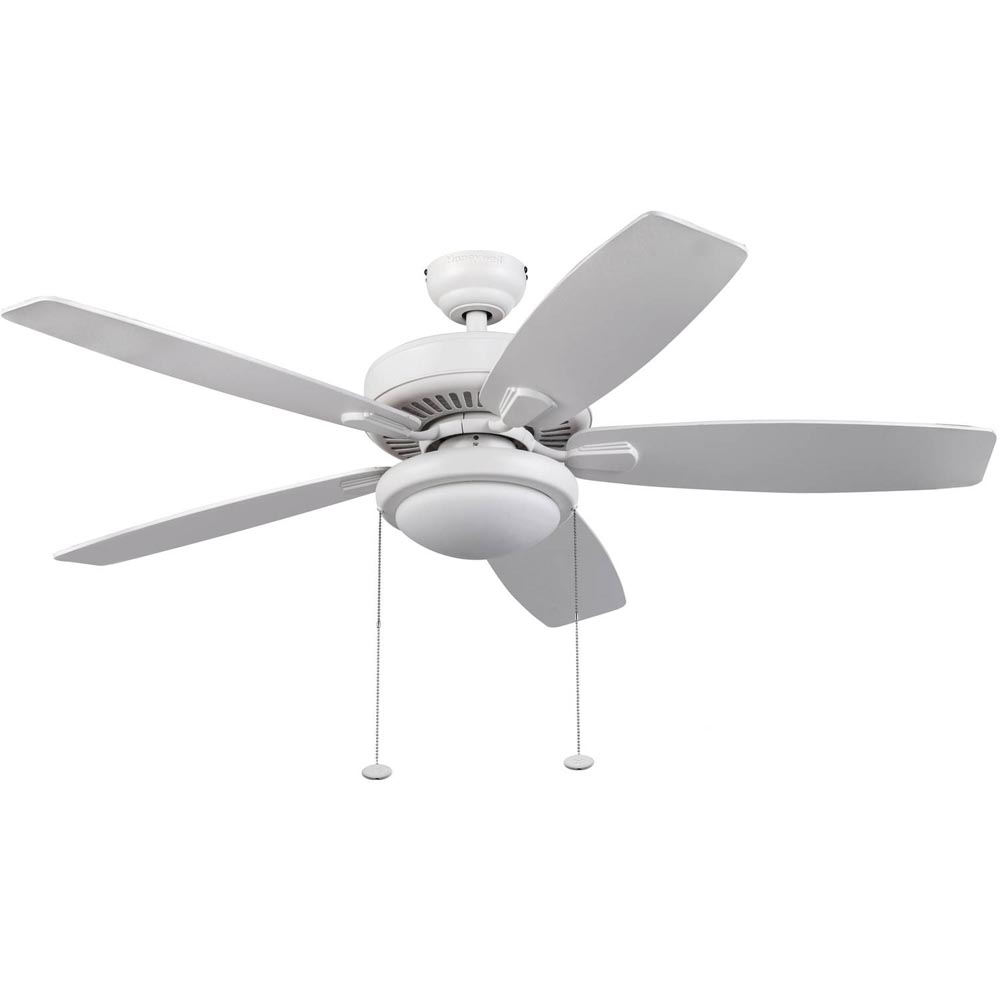 Honeywell Blufton Outdoor & Indoor Ceiling Fan, White, 52 Inch ...