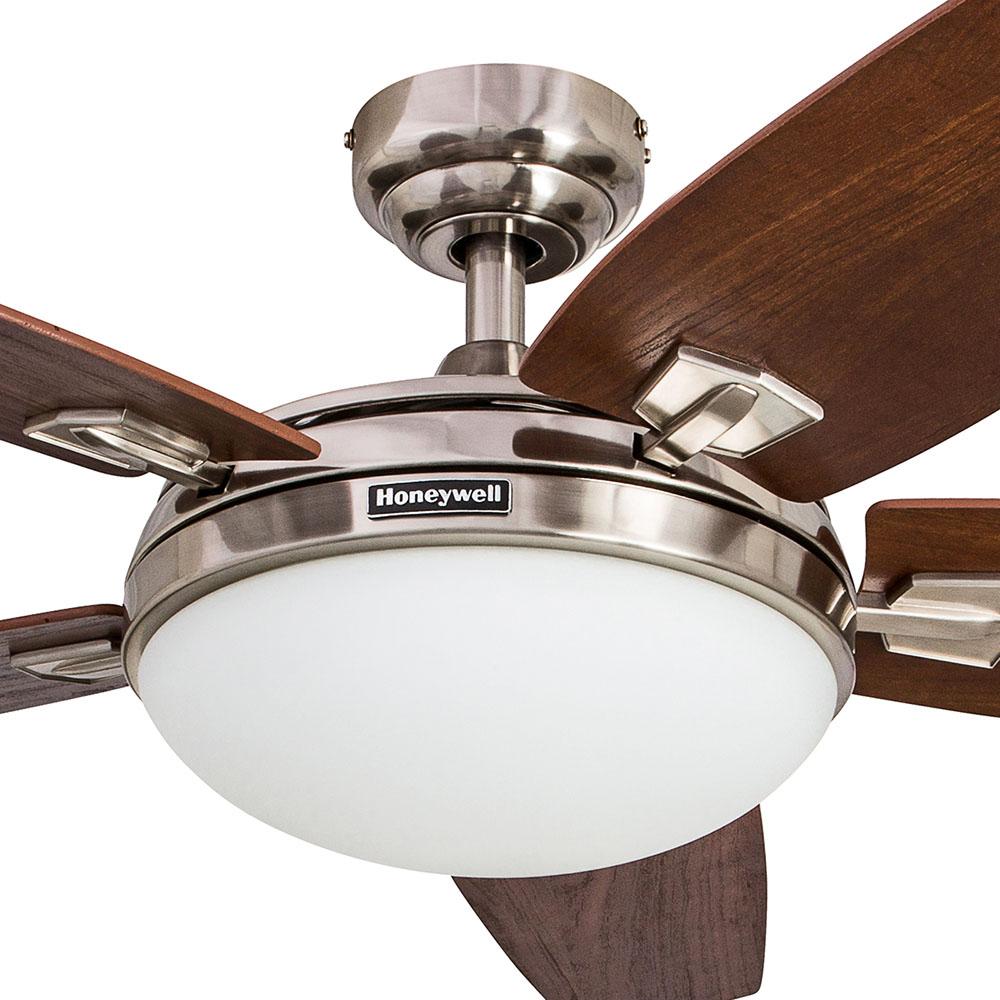 Honeywell Carmel Ceiling Fan Brushed Nickel Finish 48