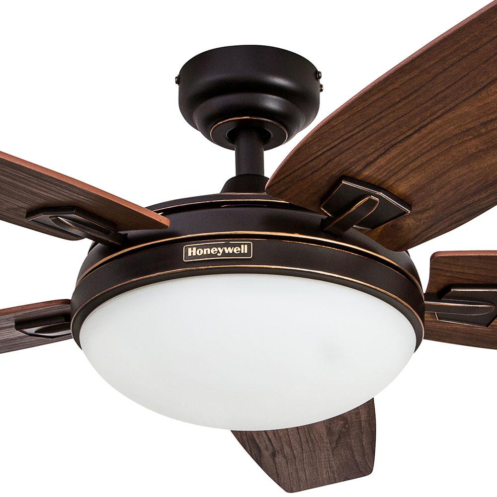 Honeywell Carmel Ceiling Fan Oil Rubbed Bronze Finish 48