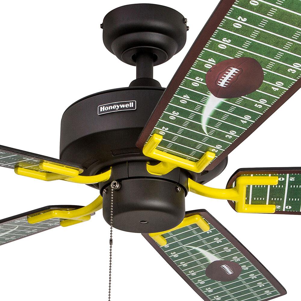 Honeywell Touch Down Ceiling Fan Matte Black Finish 48