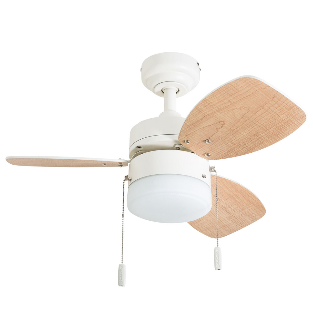 Honeywell Ocean Breeze 30-Inch White Small LED Ceiling Fan with Light - 50600-03