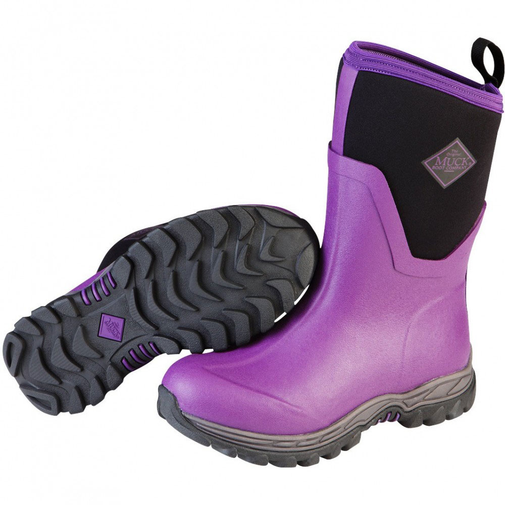 Muck Boots Arctic Sport II Mid Cut Winter Boot, Black/Purple, AS2M-502