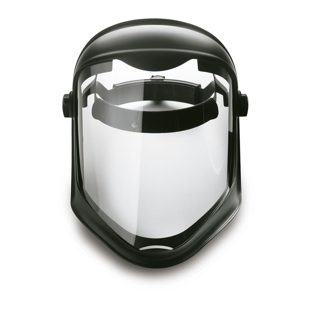 Honeywell Bionic Shield Assembly, Ratchet Adjustment Suspension, Matte Black Head Gear, Clear Lens - S8500