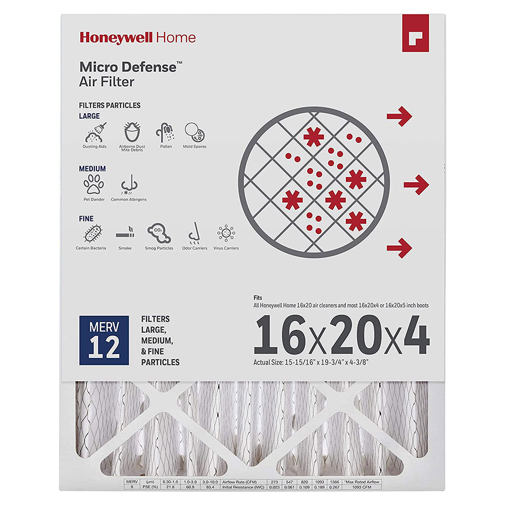 Honeywell Air Filter Ultra Efficiency CF200A1620/U, 16x20x4.5 - Merv 12