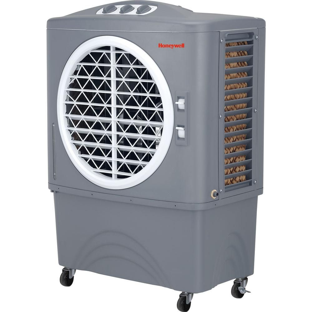 Tall Portable Fan : Honeywell co pm evaporative air cooler for indoor