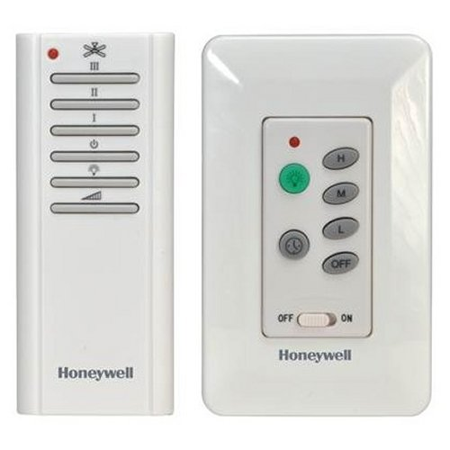 Honeywell ceiling fan and light remote with wall control casablanca