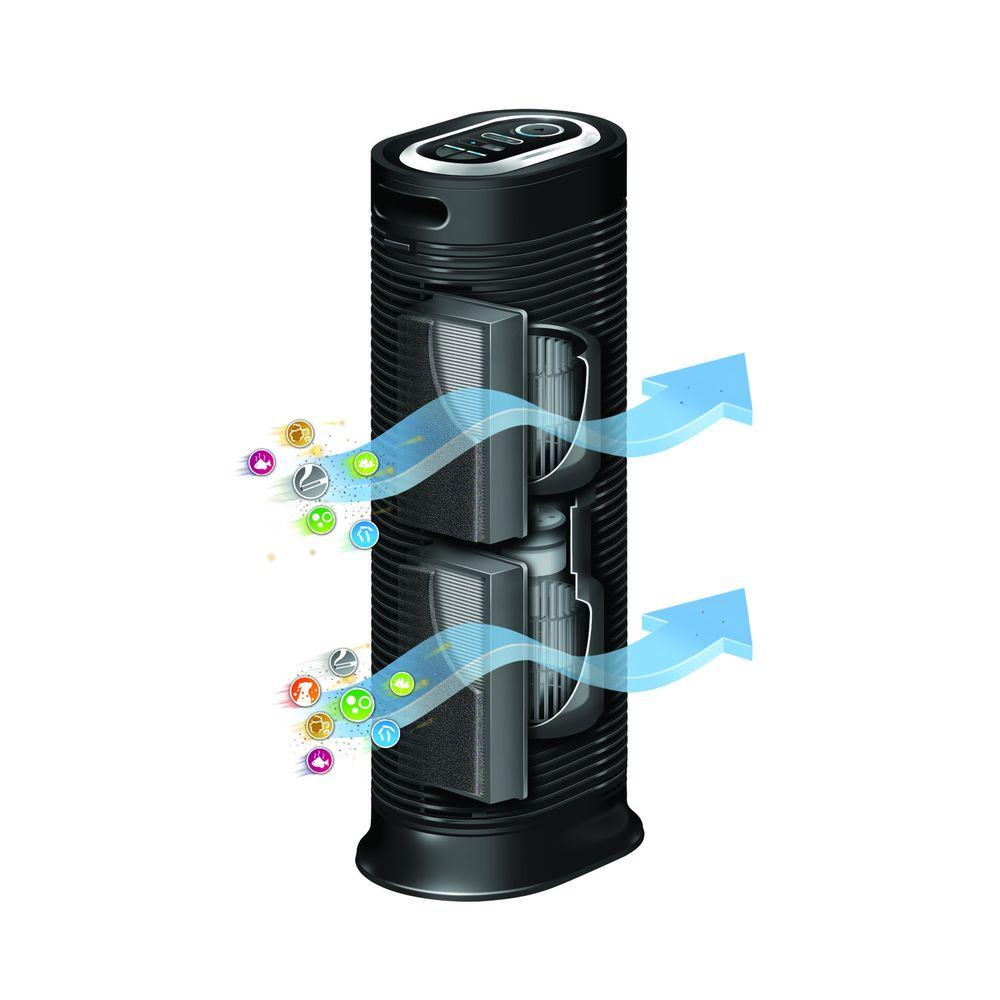 Hpa True Hepa Tower Air Purifier With Allergen Remover on Honeywell True Hepa Air Purifier