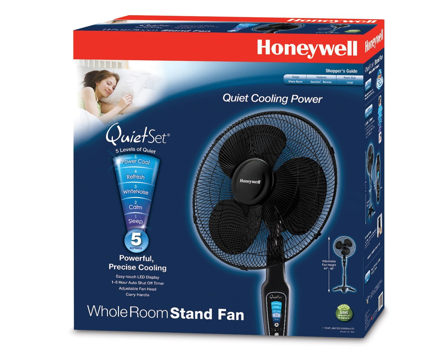 The Honeywell Hs 1655 Quietset 16 Quot Stand Fan Black