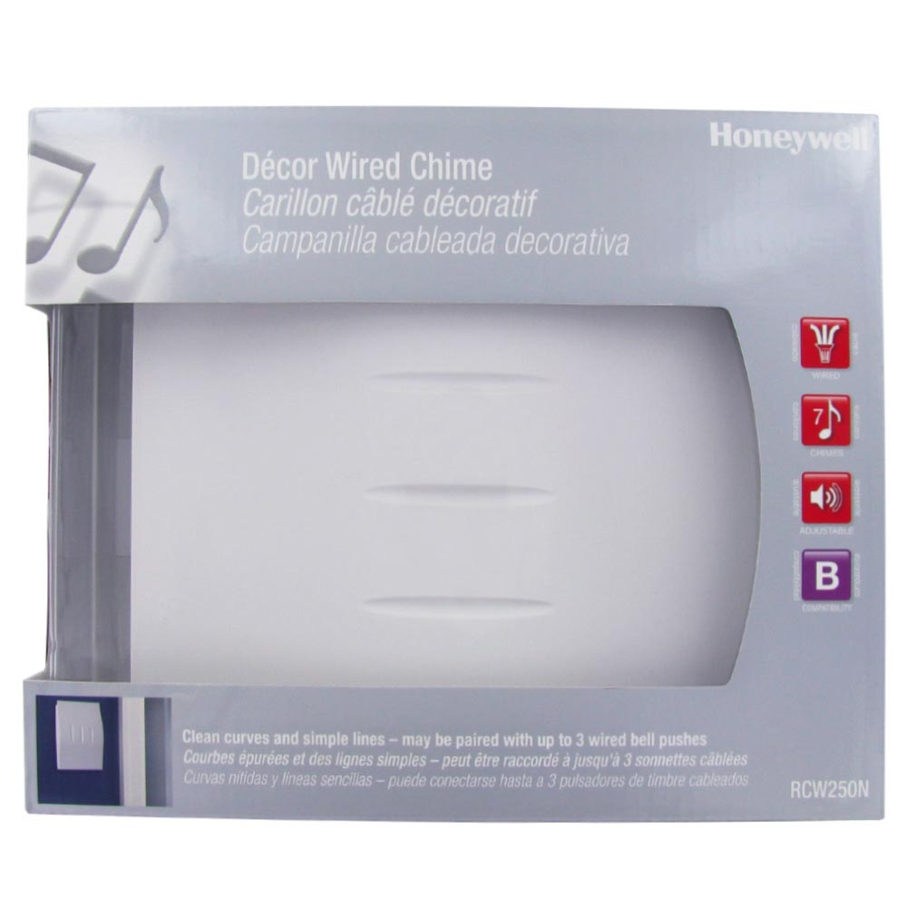Honeywell Decor Wired Door Chime With White Finish