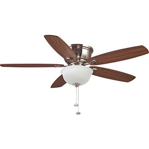Honeywell Eastover LED Hugger Ceiling Fan, Brushed Nickel, 52 Inch, 10214-03