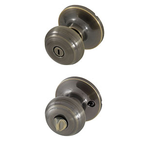 Honeywell Classic Privacy Door Knob, Antique Brass, 8101102