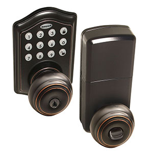 Honeywell Electronic Entry Knob Door Lock with Keypad in Oil Rubbed Bronze, 8732401