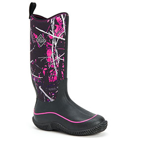 Muck Boots Women's Hale Multi Season Boot, Black/Muddy Girl, HAW-MSMG