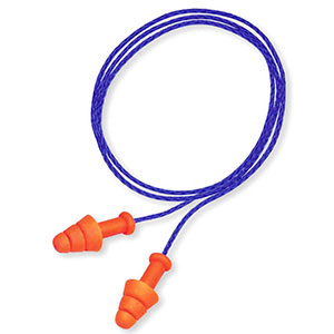 Honeywell Smart Fit corded multiple-use earplugs - 2 pair with carrying case - R-01520