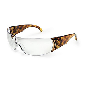 Honeywell W300 Women's Series Shooter's Safety Eyewear, Tortoise Shell Frame, Clear Lens - R-01704