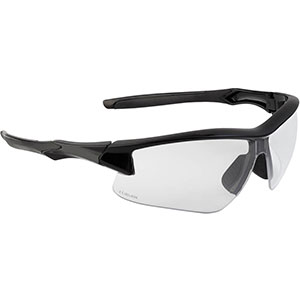 Honeywell Acadia Shooter's Safety Eyewear, Black Frame, Clear Lens with with Uvextreme Plus Anti-Fog lens coating - R-02214