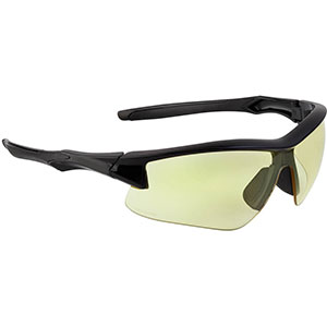 Honeywell Acadia Shooter's Safety Eyewear, Black Frame, Amber Lens with with Uvextreme Plus Anti-Fog lens coating - R-02215