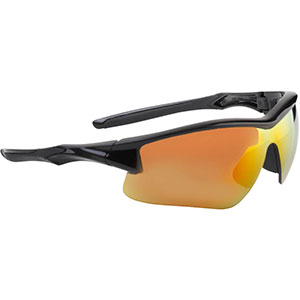 Honeywell Acadia Shooter's Safety Eyewear, Black Frame, Red Mirror Lens with Scratch-Resistant Hardcoat Lens Coating - R-02219