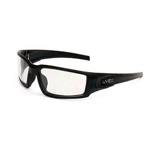 Honeywell Hypershock Shooter's Safety Eyewear, Black, Clear Lens with - R-02220