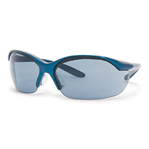 Honeywell Vapor Safety Eyewear with Contoured Fit Design, Sporty Metallic Blue Frame, TSR Gray Lens, Anti-Fog Lens Coating - RWS-51005