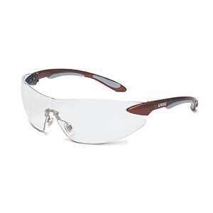 Honeywell Uvex Ignite Safety Eyewear, Red and Silver, Clear Lens - RWS-51037