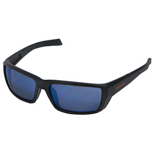 Honeywell HS200 Safety Eyewear, Retro styled, Matte Black, Blue Lens- RWS-51069