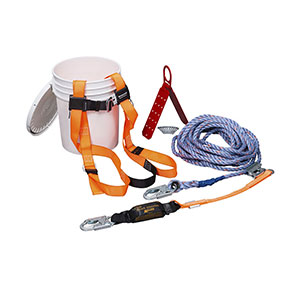 Honeywell Complete, Compliant Fall Protection Roof Kit with 25-ft. (7.6 m) lifeline - TRK2000-Z7/25FT