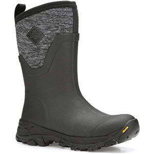 Muck Women's Arctic Ice Mid Boot, Black / Heather Jersey - AS2MV-100