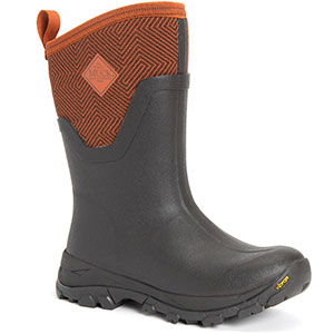 Muck Women's Arctic Ice Mid Boot, Brown / Autumnal Geometric - AS2MV-700