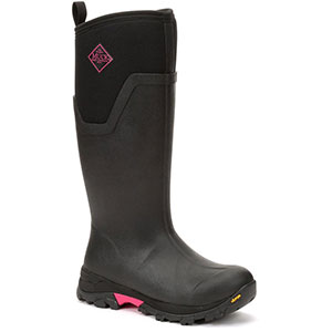 Muck Women's Arctic Ice Tall Boot, Black / Hot Pink - AS2TV-404