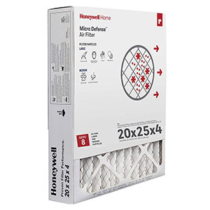 Honeywell CF100A1025 4-Inch High Efficiency Air Cleaning Filter 20x25x4