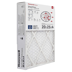 Honeywell Air Filter Ultra Efficiency CF200A1016/U, 20x25x4.5 - Merv 12
