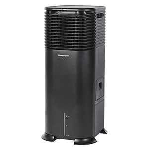 Honeywell DLC203AE Evaporative Tower Air Cooler with Fan & Humidifier, 500 CFM - 5.3 Gallon Tank (Black)