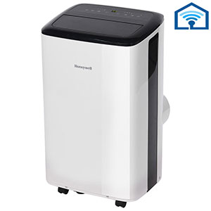 Honeywell 10,000 BTU Smart Wi-Fi Portable Air Conditioner, Dehumidifier & Fan - White & Black, HF0CESVWK6