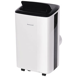 Honeywell HF08CESWK Compact Portable Air Conditioner with Dehumidifier & Fan, 8,000 BTU Cooling (White-Black)