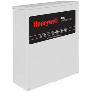 Honeywell RTSQ100A3 Single Phase 100 Amp/240 Volt Sync Transfer Switch, Non Service-Rated