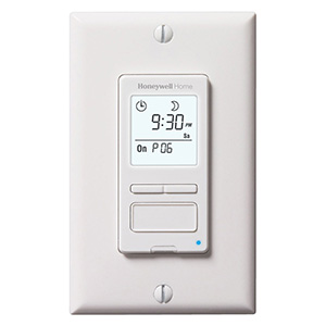 Honeywell RPLS540A1002/U ECONOSwitch Programmable Light Switch Timer (White)