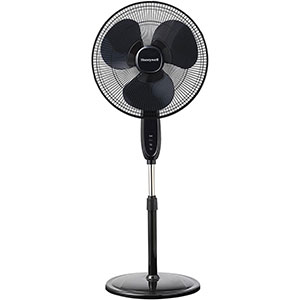 Honeywell 16 in. Double Blade Pedestal Stand Fan, Black - HSF1640B
