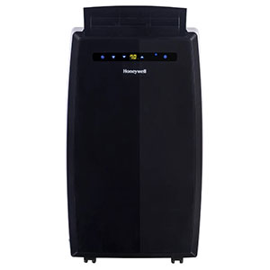 Honeywell MN12CEDBB Portable Air Conditioner, 12,000 BTU Cooling, with Dehumidifier & Fan, Dual Hose (Black)