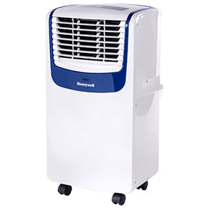 Honeywell 8,000 BTU Compact Portable Air Conditioner, Dehumidifier & Fan - White & Blue, MO08CESWB6