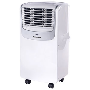 Honeywell 8,000 BTU Compact Portable Air Conditioner, Dehumidifier & Fan - White & Silver, MO08CESWS6