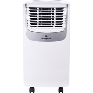 Honeywell MO10CESWS Compact Air Conditioner, 10,000 BTU Cooling, with Dehumidifier & Fan (White/Silver)