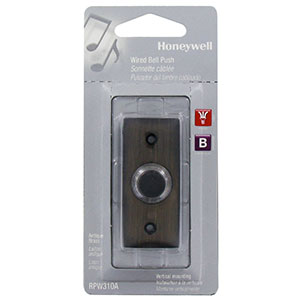 Honeywell Wired Push Button for Door Chime, RPW310A1000/A