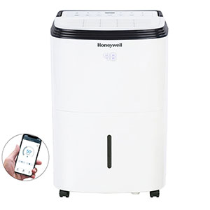 Honeywell TP50AWKN Smart 50-Pint Energy Star Dehumidifier with Wifi Connectivity and Alexa Control for Medium Rooms Up To 3000 Sq. Ft.