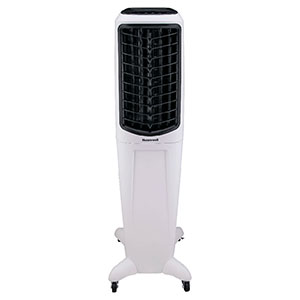 Honeywell TC50PEU Evaporative Tower Air Cooler with Fan & Humidifier, Washable Dust Filter, 588 CFM - 12.5 Gallon Tank (White)